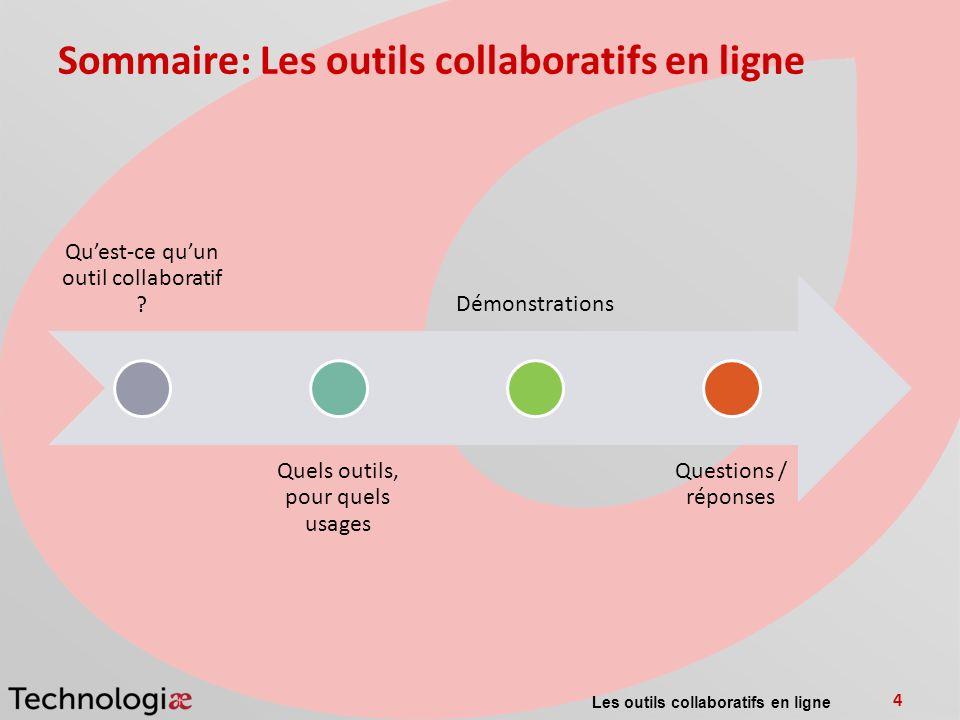 Sommaire: Les outils collaboratifs en ligne