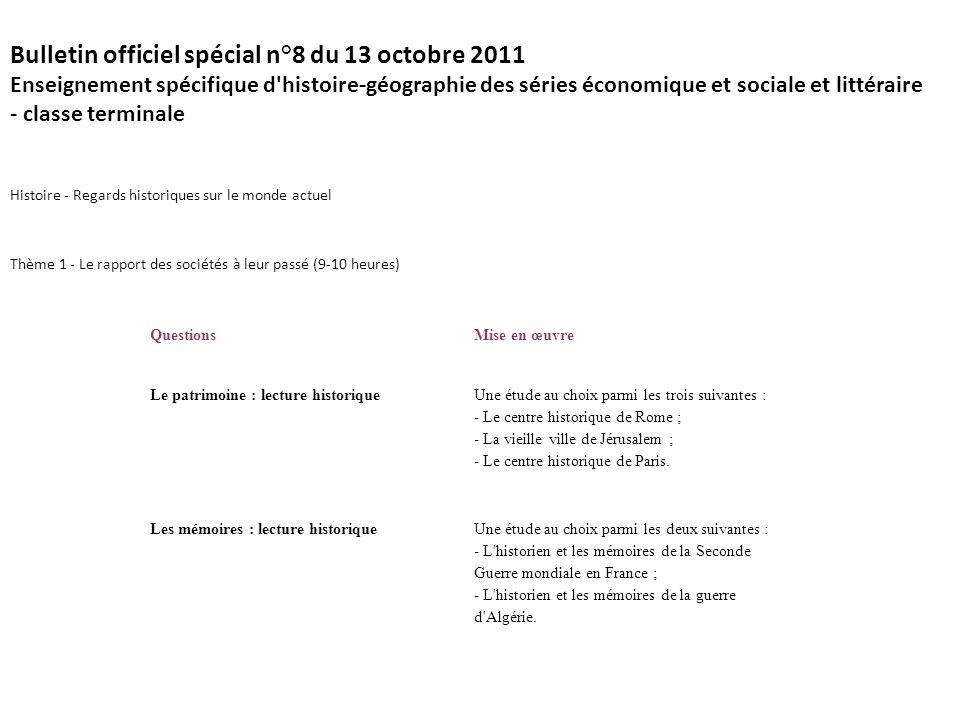 Bulletin officiel spécial n°8 du 13 octobre 2011