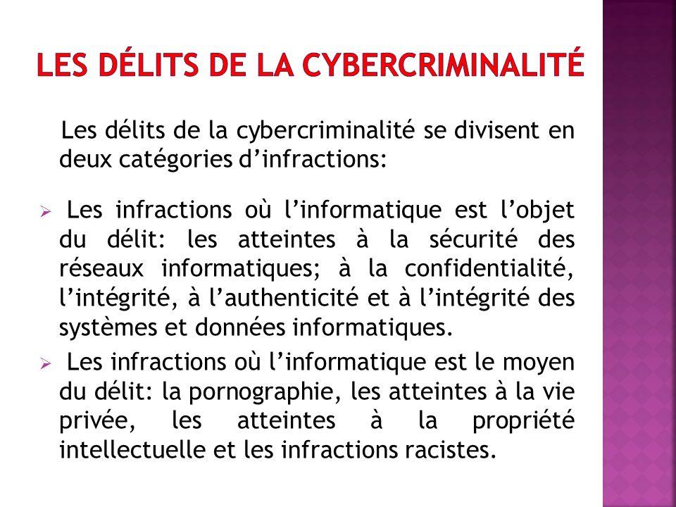 Les délits de la cybercriminalité