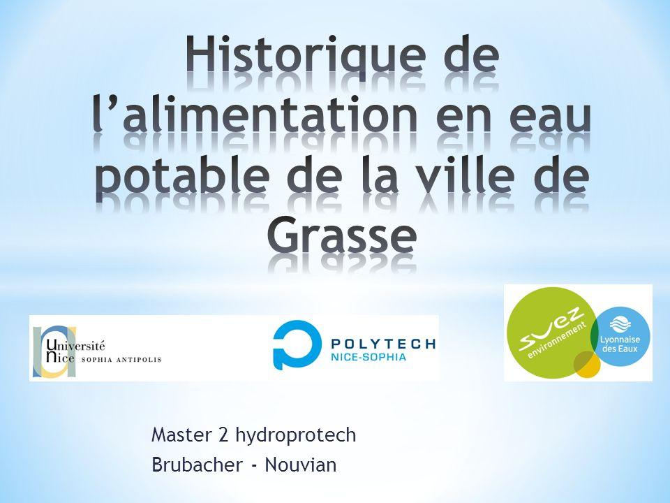 Historique de l'alimentation en eau potable de la ville de Grasse