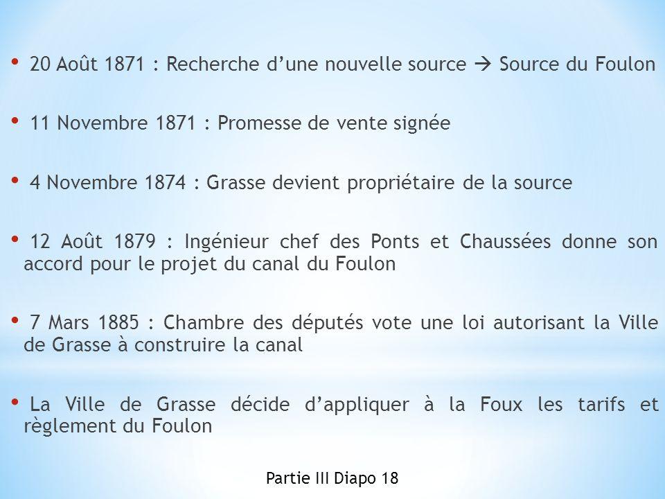 20 Août 1871 : Recherche d'une nouvelle source  Source du Foulon