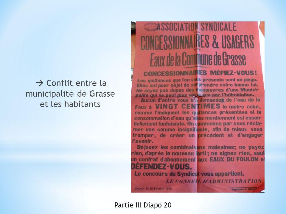  Conflit entre la municipalité de Grasse et les habitants