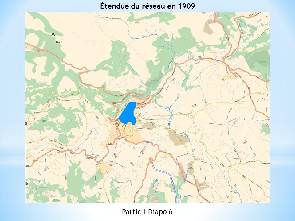 Étendue du réseau en 1909 Partie I Diapo 6