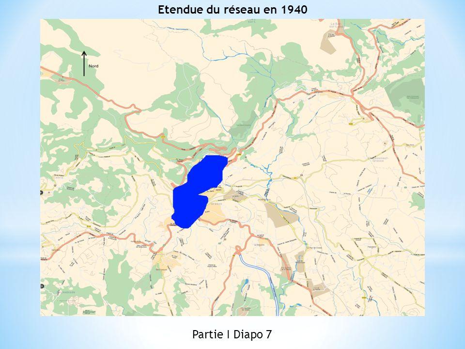 Etendue du réseau en 1940 Partie I Diapo 7