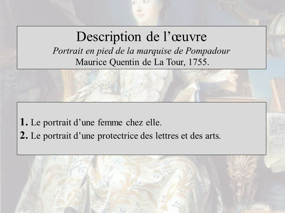 Description de l'œuvre