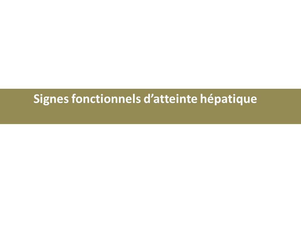 Signes fonctionnels d'atteinte hépatique