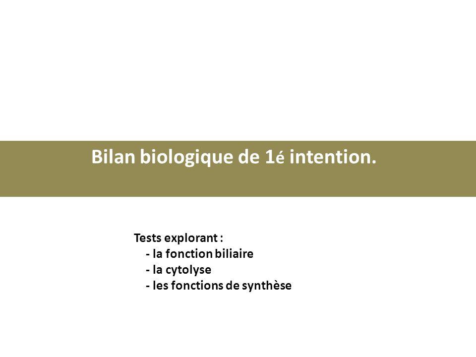 Bilan biologique de 1é intention.