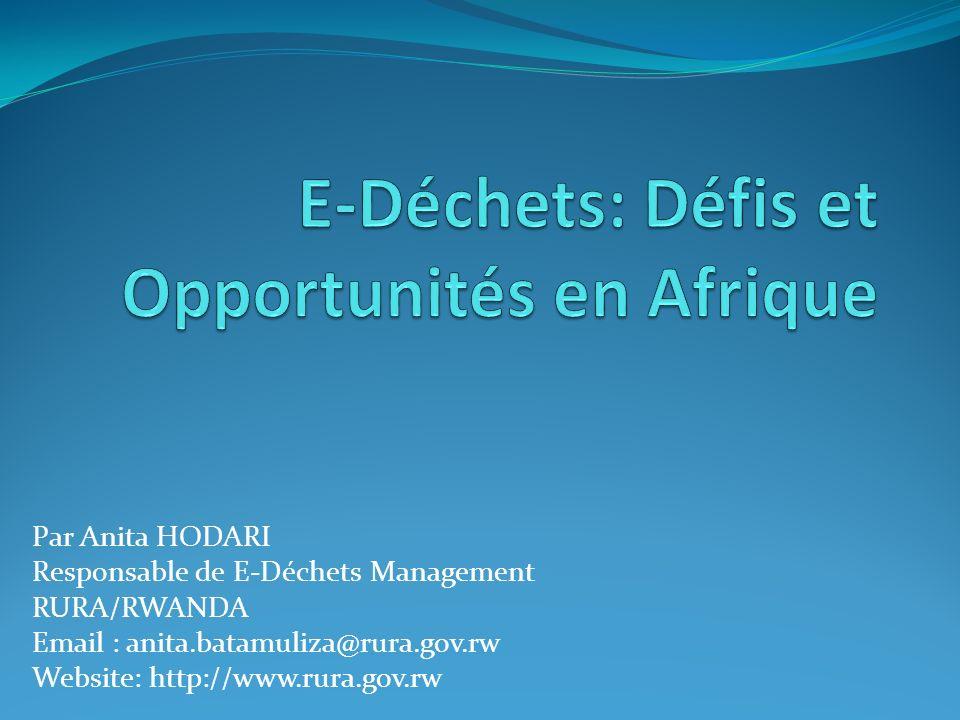 E-Déchets: Défis et Opportunités en Afrique