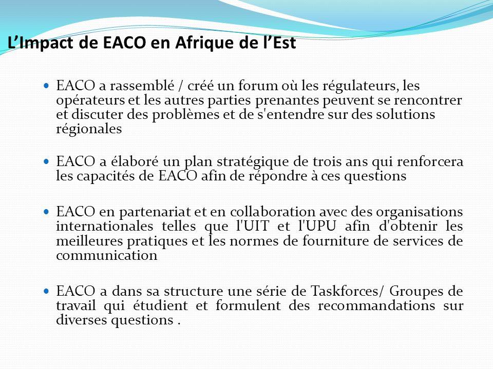 L'Impact de EACO en Afrique de l'Est