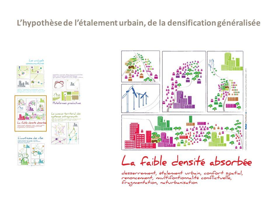 L'hypothèse de l'étalement urbain, de la densification généralisée