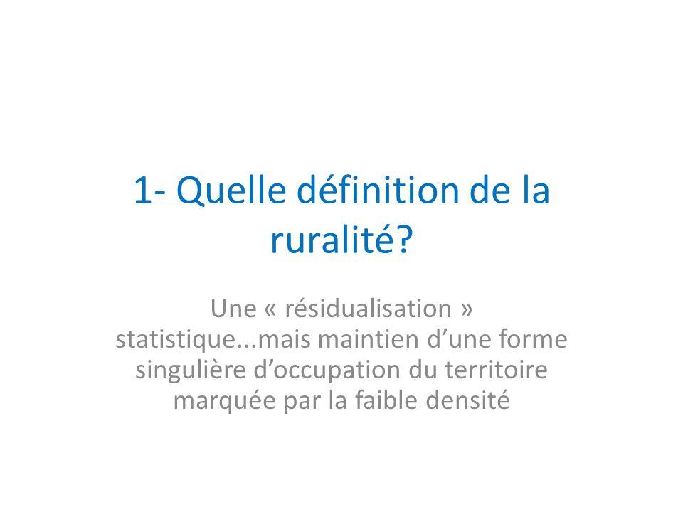 1- Quelle définition de la ruralité