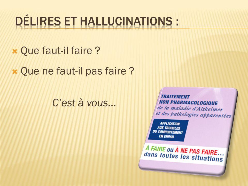 Délires et Hallucinations :