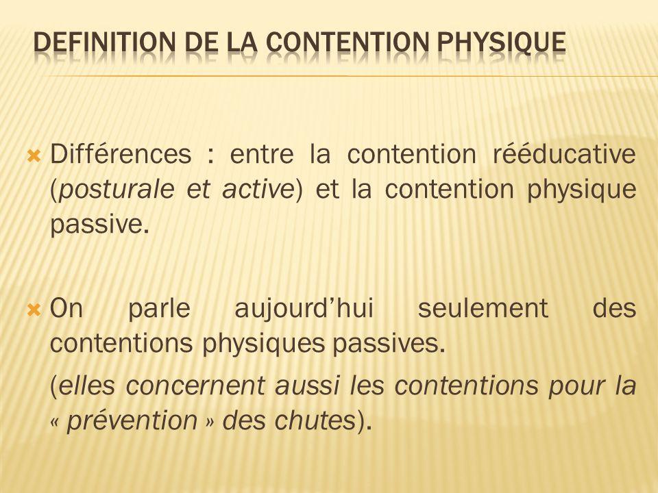 DEFINITION DE LA CONTENTION Physique