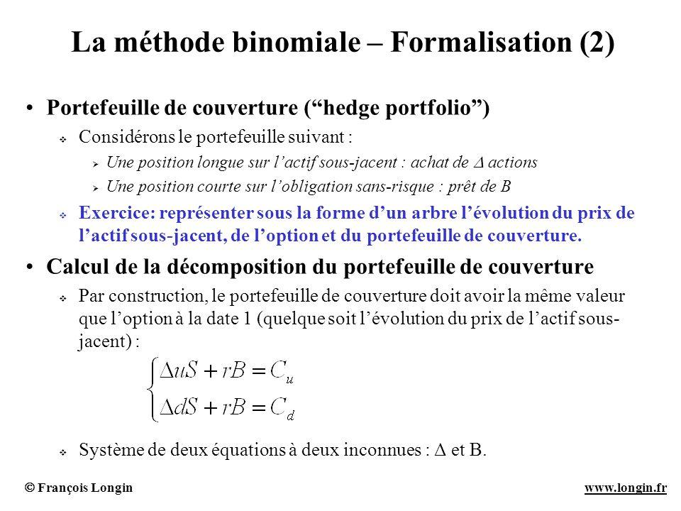 La méthode binomiale – Formalisation (2)