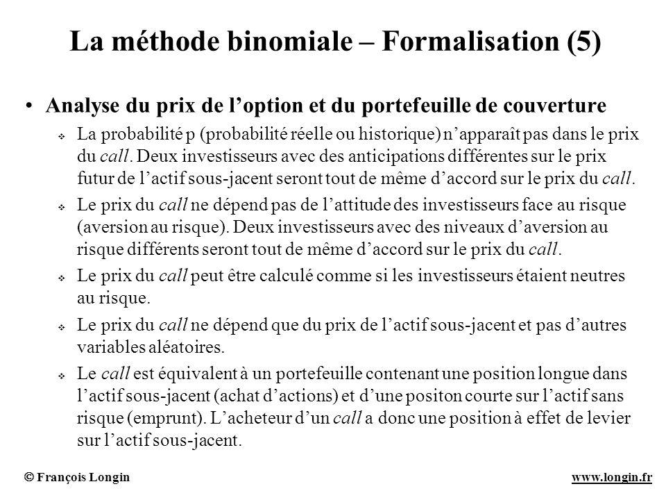 La méthode binomiale – Formalisation (5)