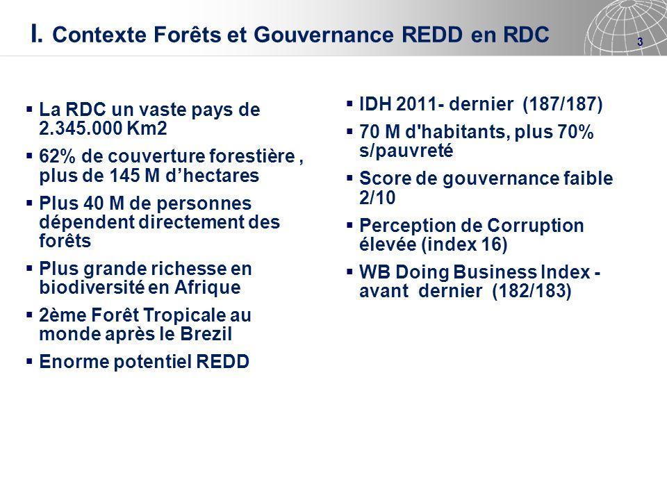 I. Contexte Forêts et Gouvernance REDD en RDC