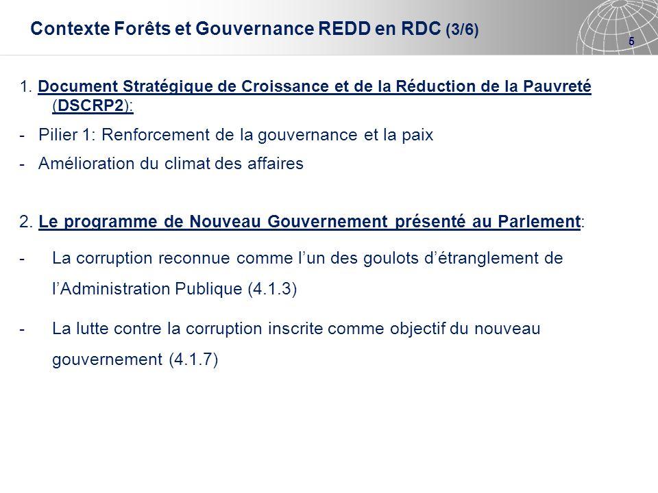 Contexte Forêts et Gouvernance REDD en RDC (3/6)