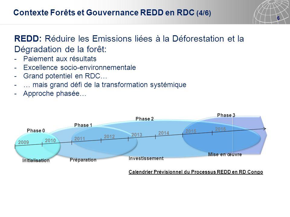 Contexte Forêts et Gouvernance REDD en RDC (4/6)