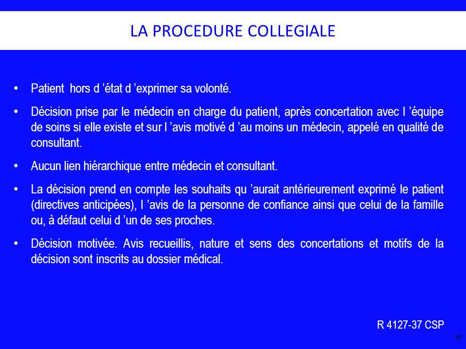 LA PROCEDURE COLLEGIALE