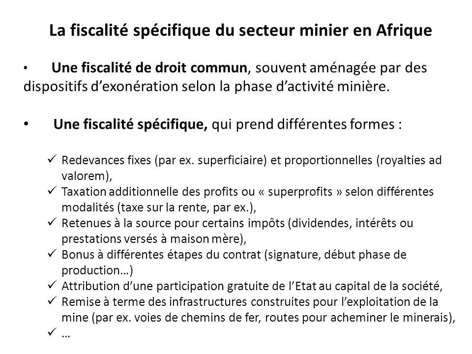 La fiscalité spécifique du secteur minier en Afrique