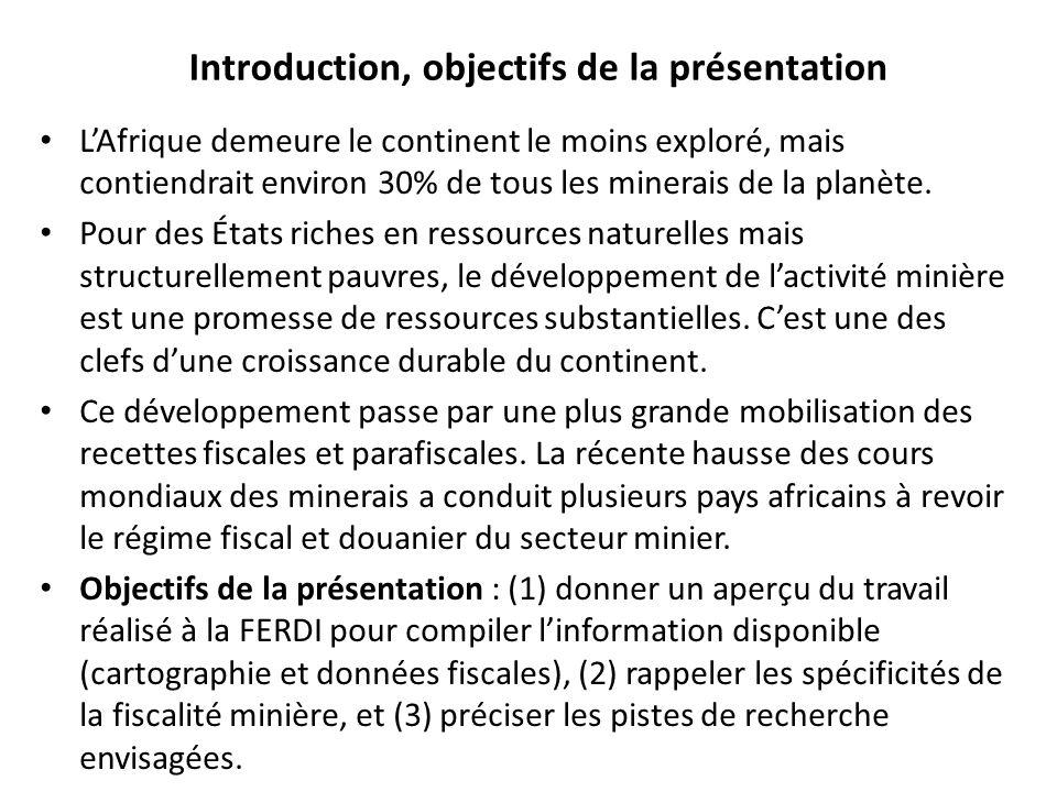 Introduction, objectifs de la présentation