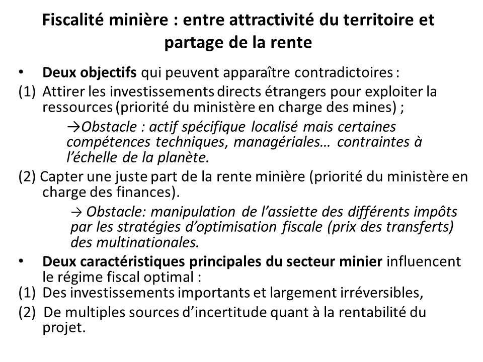 Fiscalité minière : entre attractivité du territoire et partage de la rente