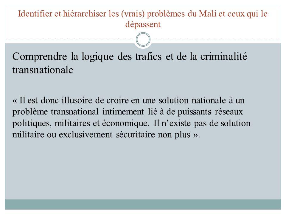 Comprendre la logique des trafics et de la criminalité transnationale