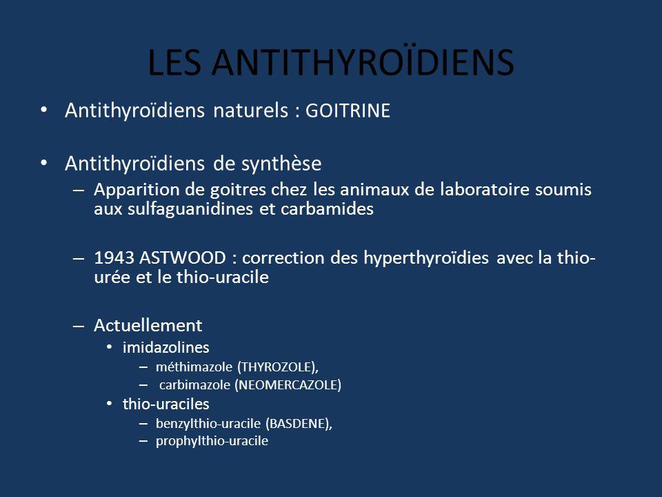 LES ANTITHYROÏDIENS Antithyroïdiens naturels : GOITRINE
