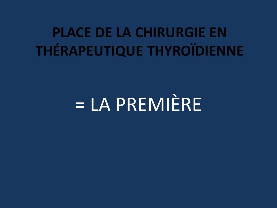 PLACE DE LA CHIRURGIE EN Thérapeutique thyroïdienne