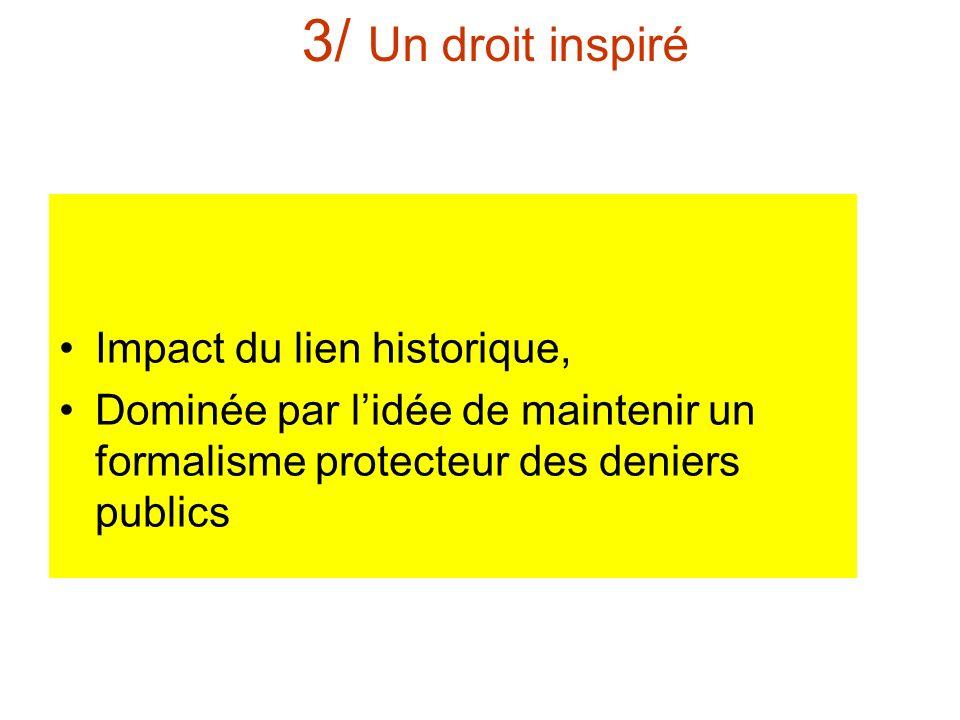 3/ Un droit inspiré Impact du lien historique,