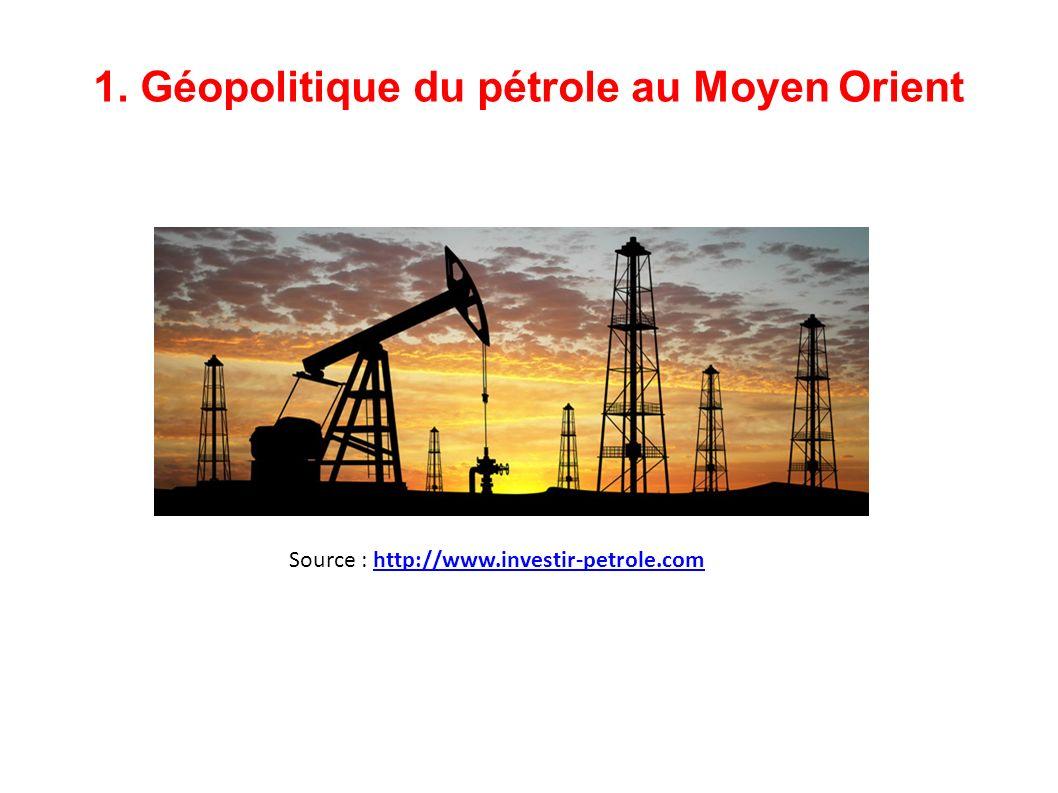 1. Géopolitique du pétrole au Moyen Orient