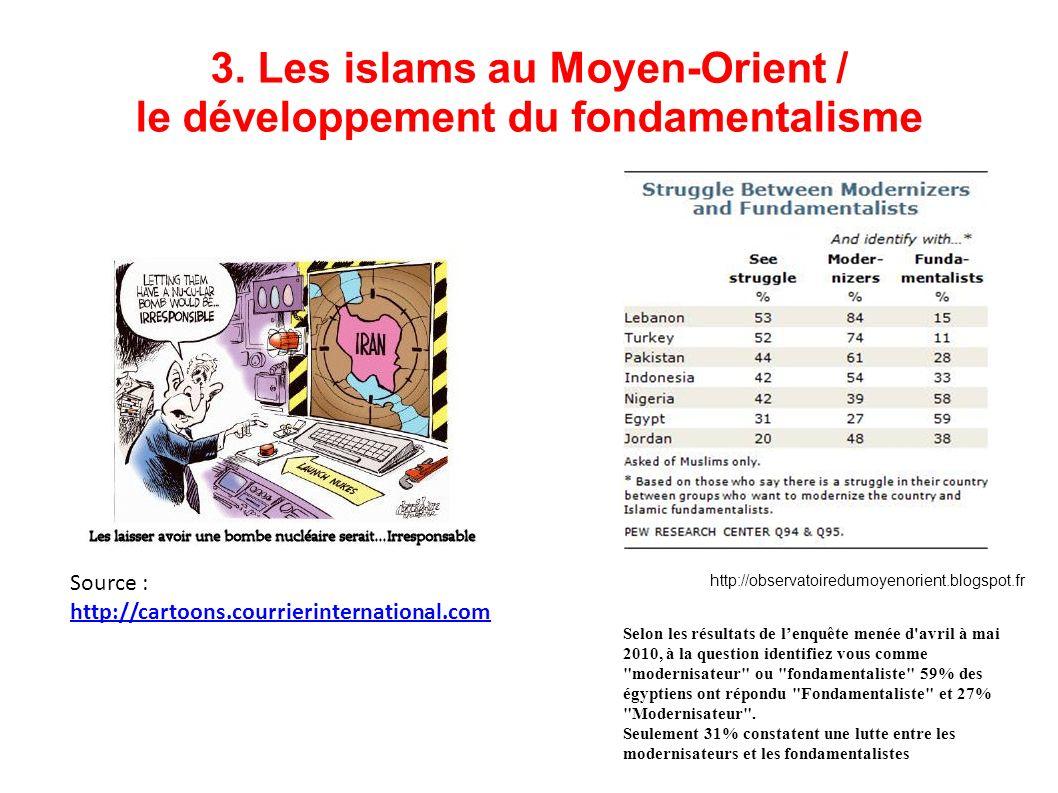 3. Les islams au Moyen-Orient / le développement du fondamentalisme