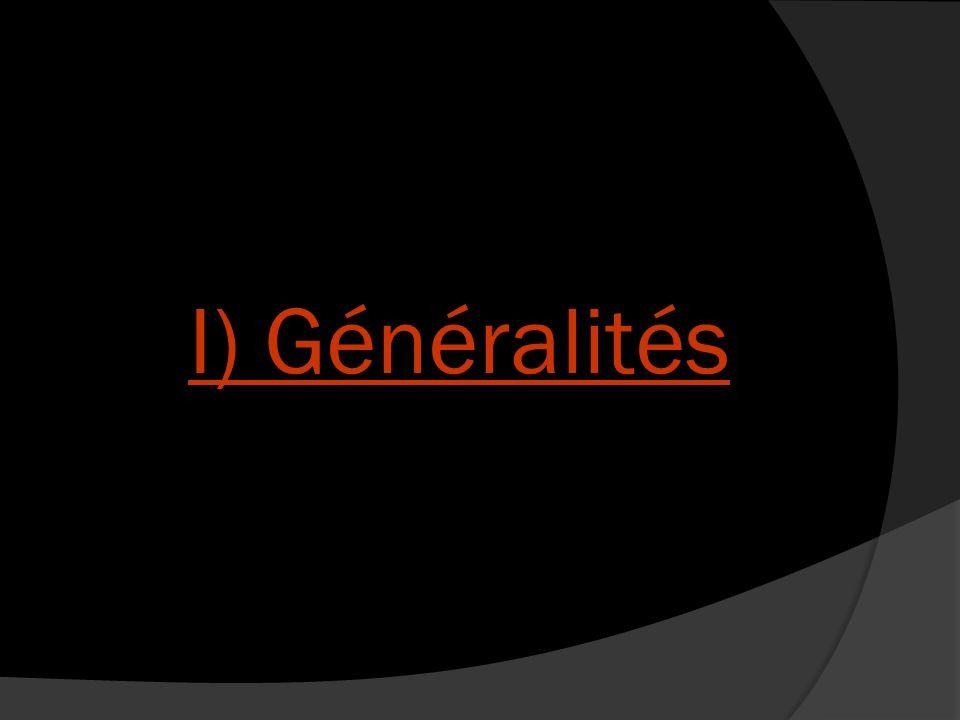 I) Généralités