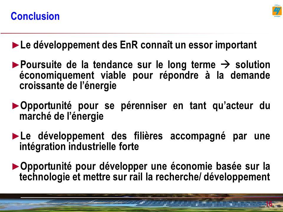 Le développement des EnR connaît un essor important