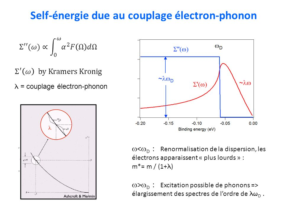 Self-énergie due au couplage électron-phonon