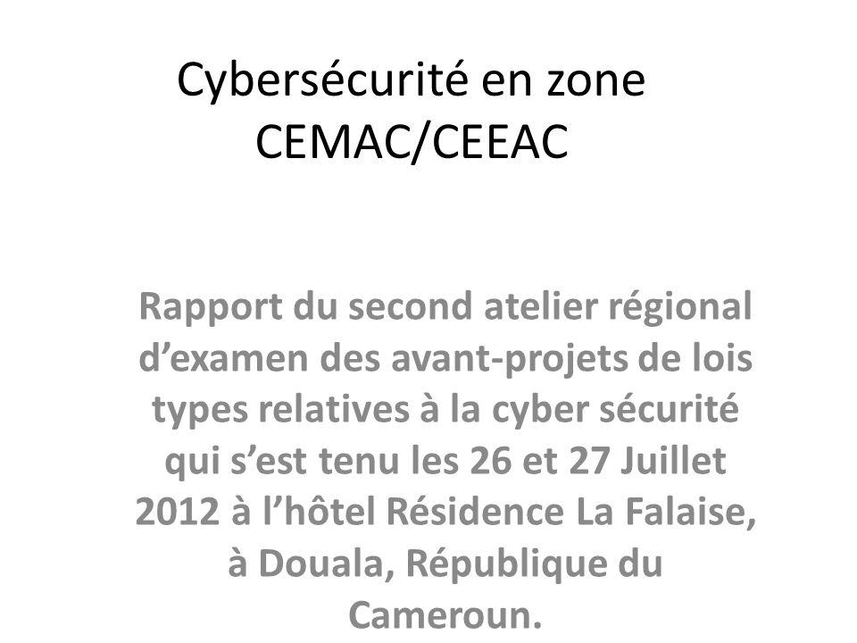 Cybersécurité en zone CEMAC/CEEAC