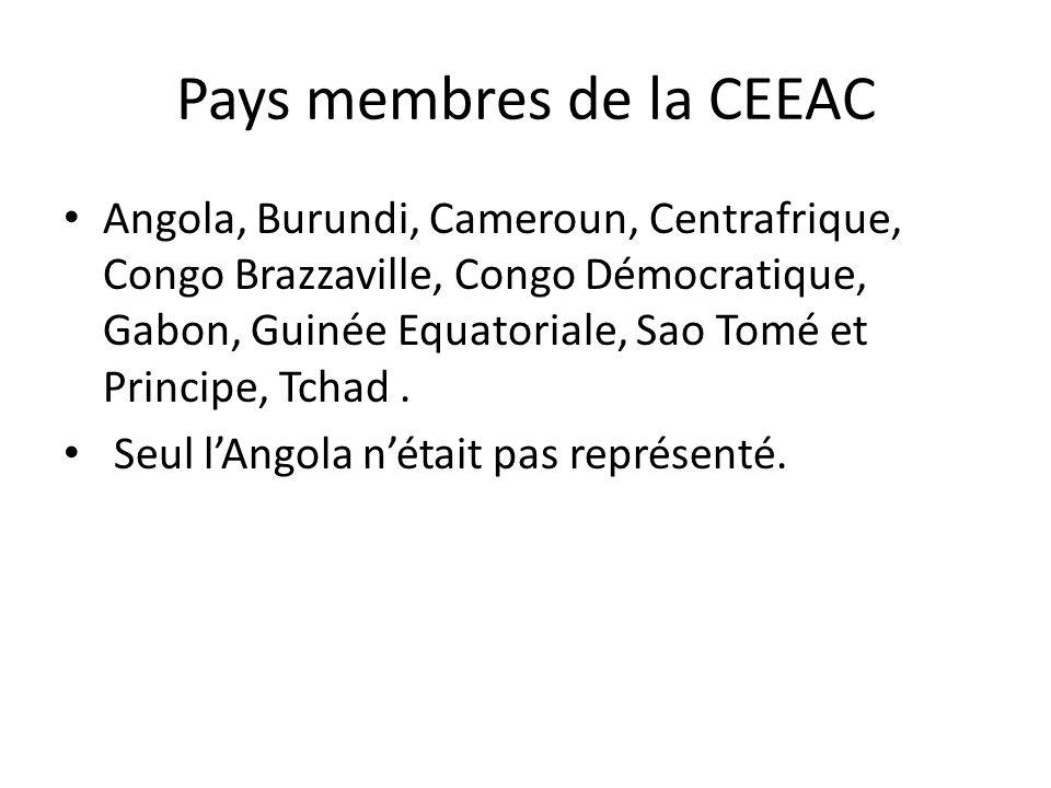Pays membres de la CEEAC
