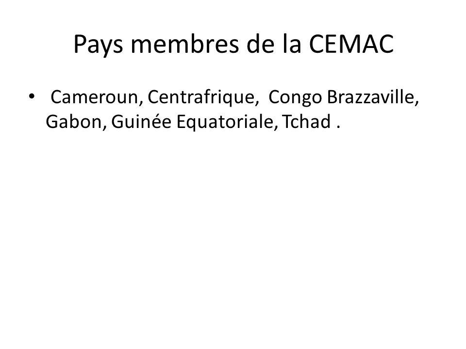 Pays membres de la CEMAC