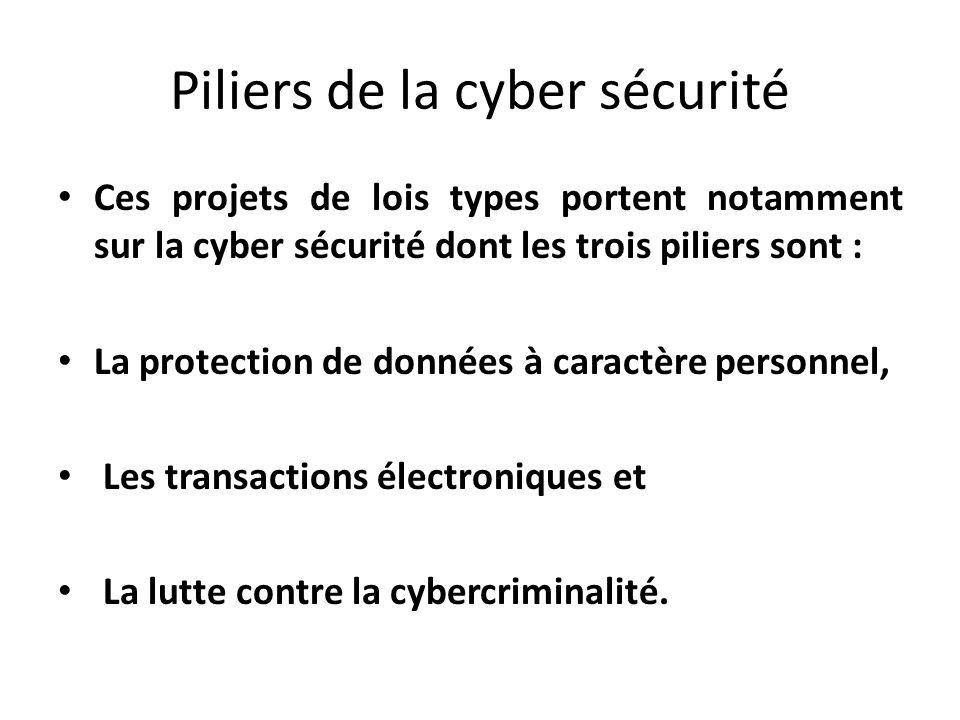 Piliers de la cyber sécurité