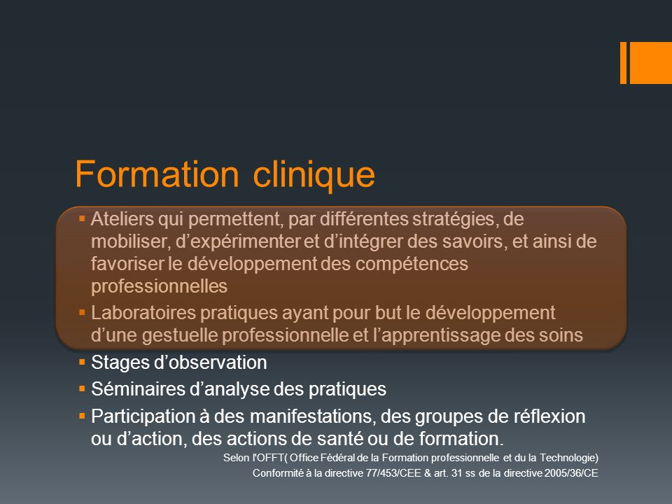 Formation clinique