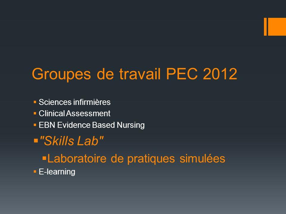Groupes de travail PEC 2012 Skills Lab