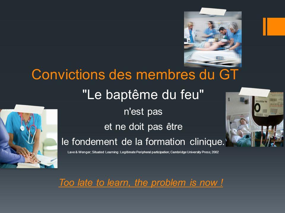 Convictions des membres du GT
