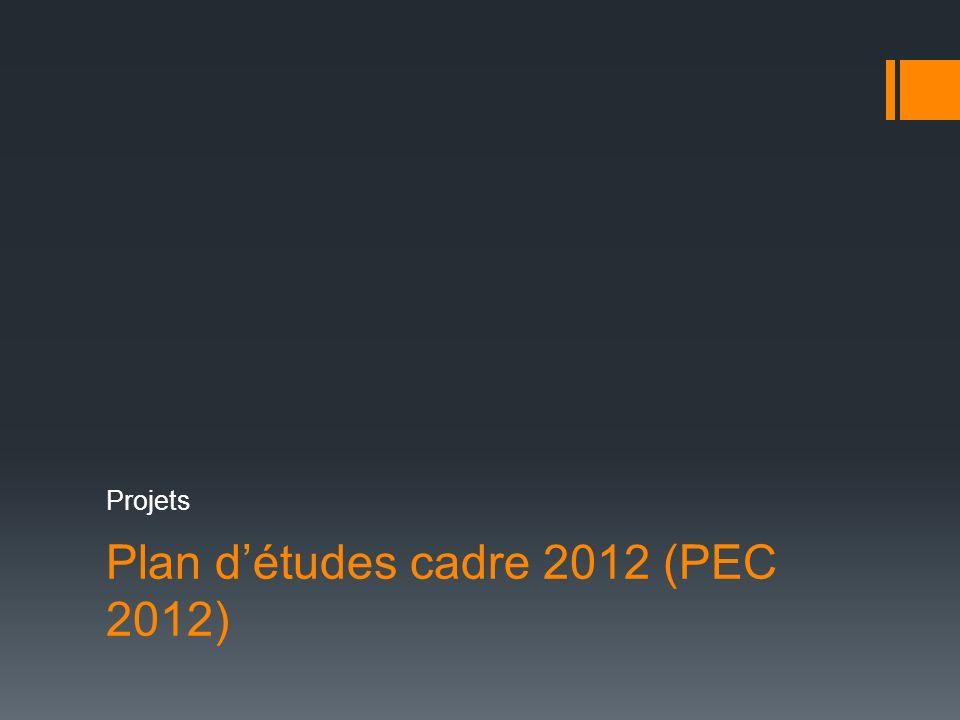 Plan d'études cadre 2012 (PEC 2012)