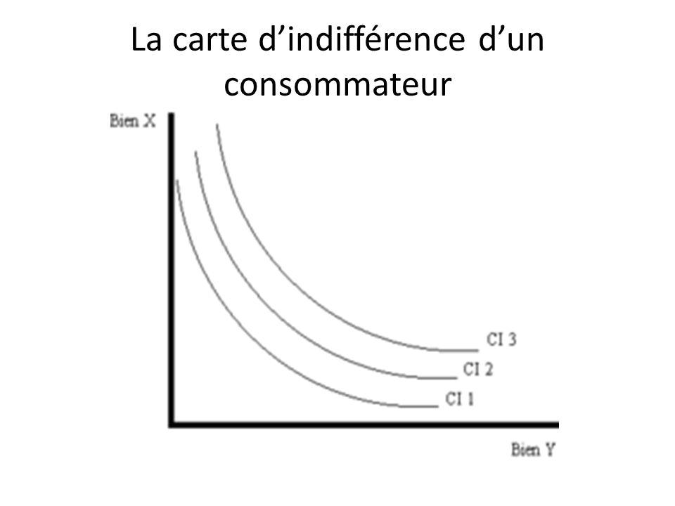 La carte d'indifférence d'un consommateur