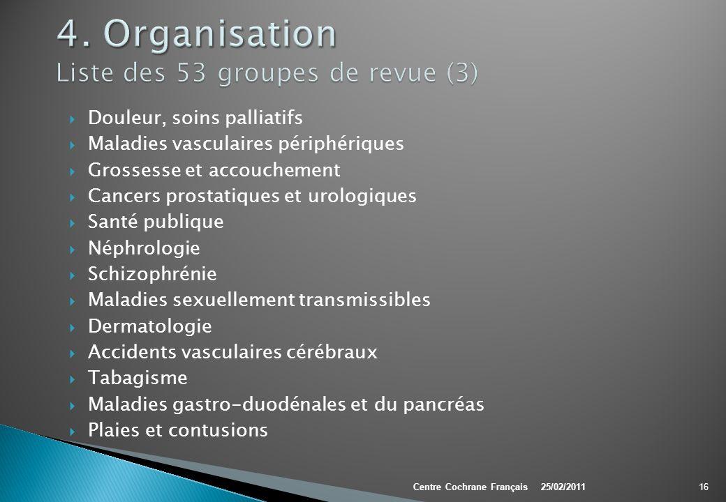 4. Organisation Liste des 53 groupes de revue (3)