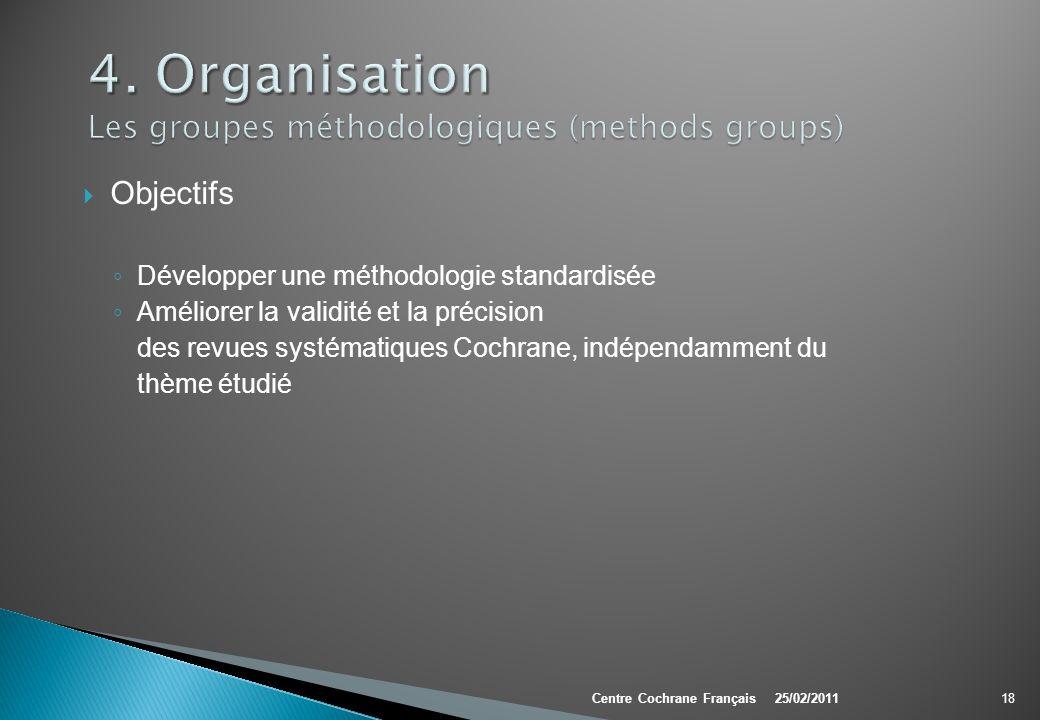 4. Organisation Les groupes méthodologiques (methods groups)