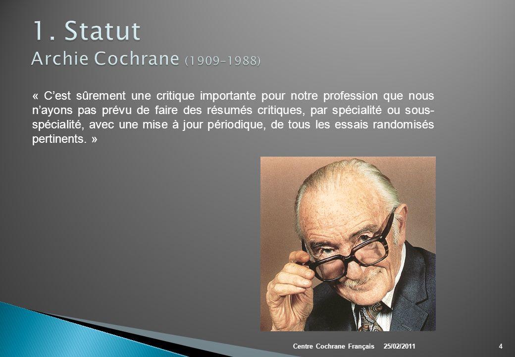 1. Statut Archie Cochrane (1909-1988)
