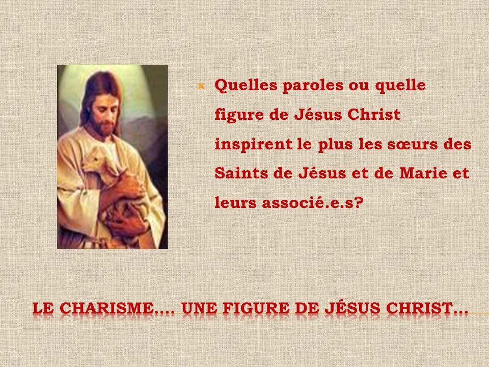 Le charisme…. Une figure de jésus christ…