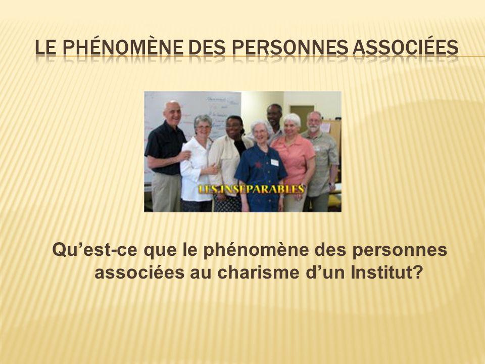 Le phénomène des personnes associées