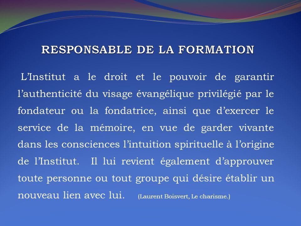RESPONSABLE DE LA FORMATION